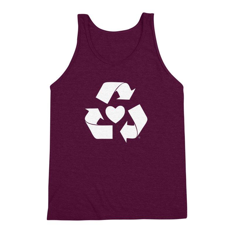 Recycle Heart Men's Triblend Tank by Mixtape Comics