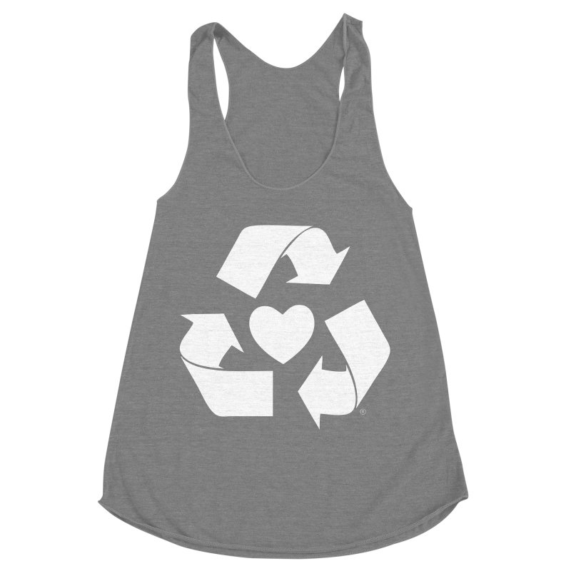Recycle Heart Women's Racerback Triblend Tank by Mixtape Comics