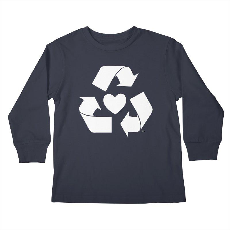 Recycle Heart Kids Longsleeve T-Shirt by Mixtape Comics