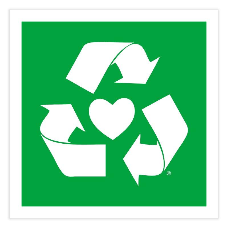 Recycle Heart Home Fine Art Print by Mixtape Comics