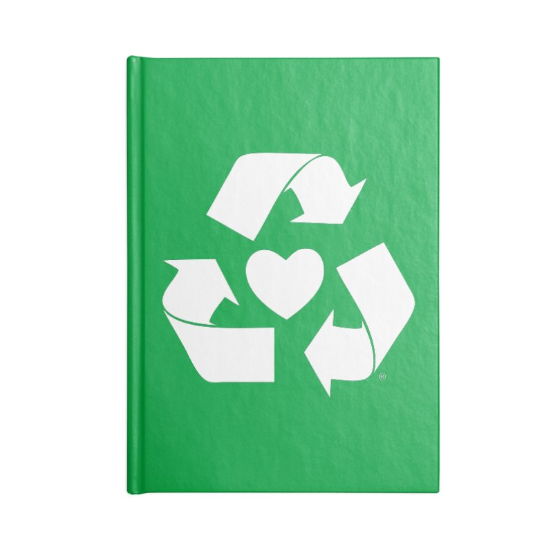 Recycle Heart Accessories Blank Journal Notebook by Mixtape Comics