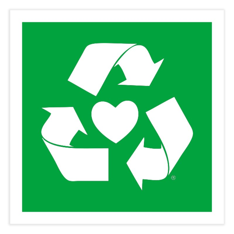 Recycle Heart Home Fine Art Print by Mixtape Comics