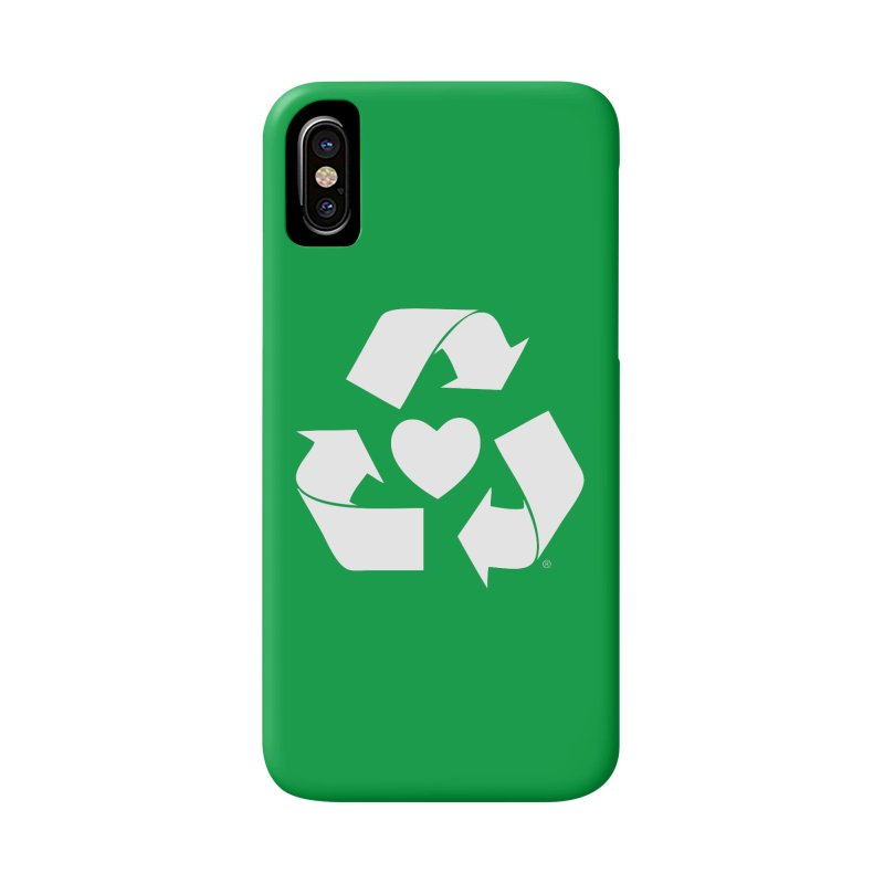 Recycle Heart Accessories Phone Case by mixtapecomics's Artist Shop
