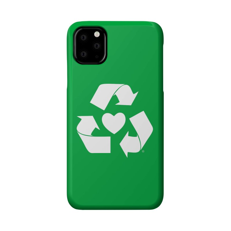 Recycle Heart Accessories Phone Case by Mixtape Comics