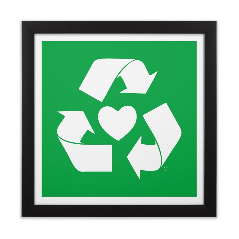 Recycle Heart Home Framed Fine Art Print by mixtapecomics's Artist Shop