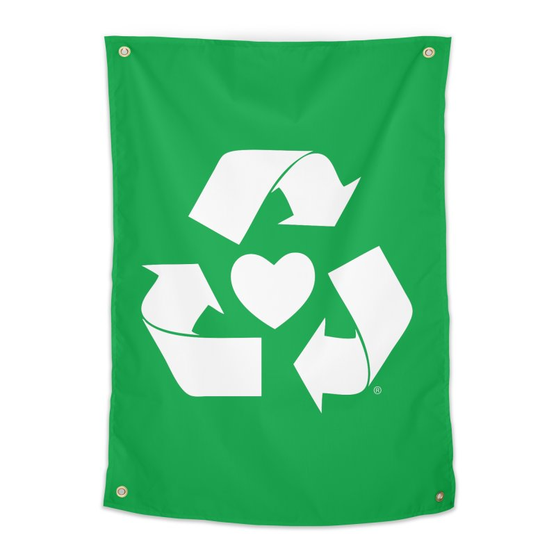 Recycle Heart Home Tapestry by mixtapecomics's Artist Shop