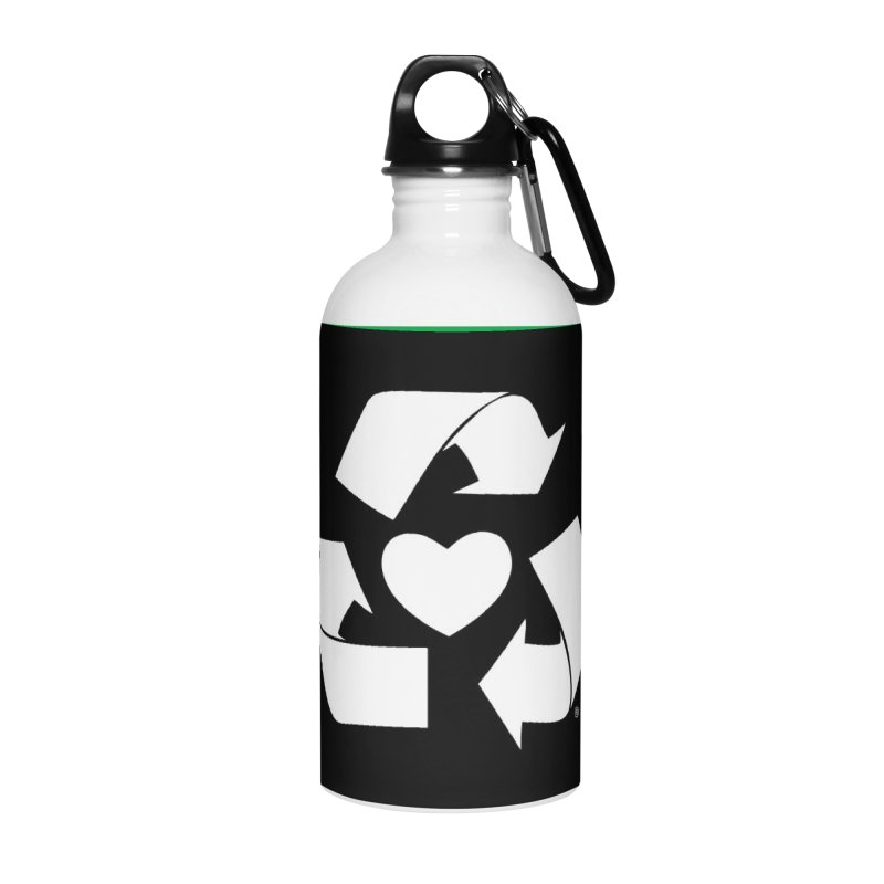 Recycle Heart Accessories Water Bottle by mixtapecomics's Artist Shop