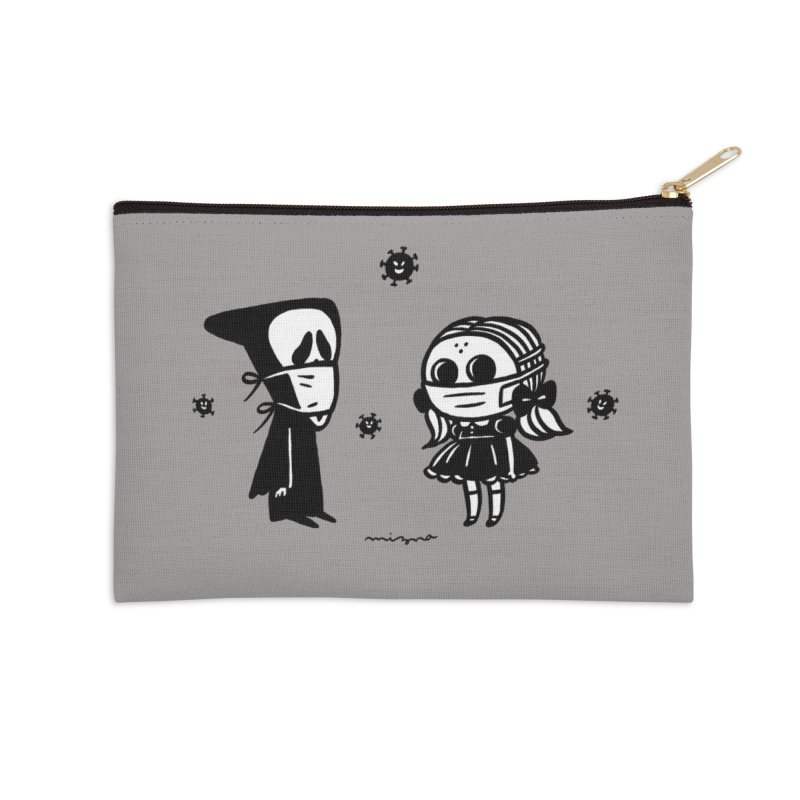 MASK on MASK Accessories Zip Pouch by Mizna Wada