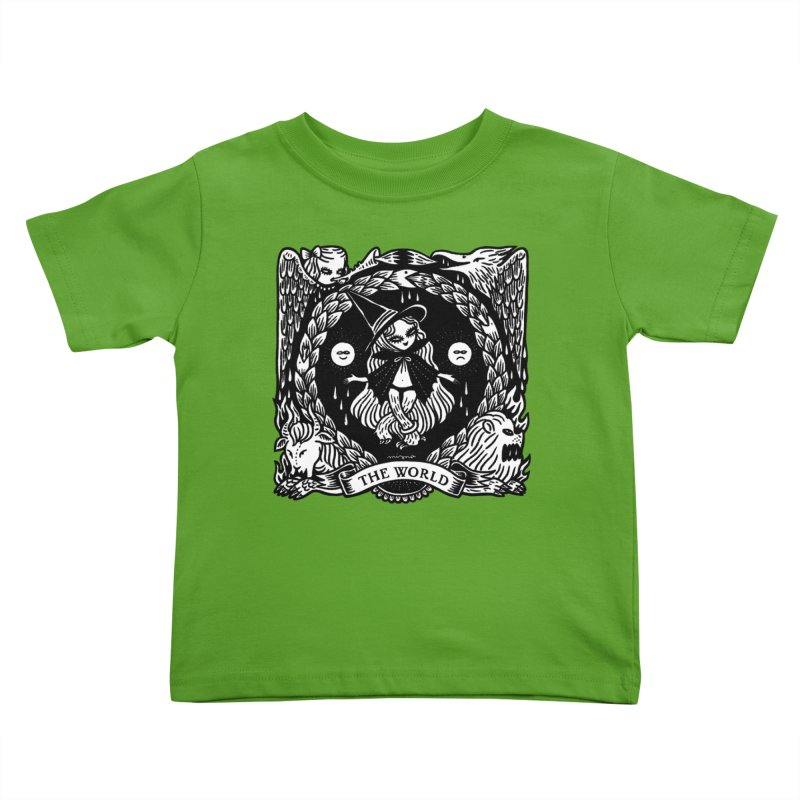 THE WORLD Kids Toddler T-Shirt by Mizna Wada