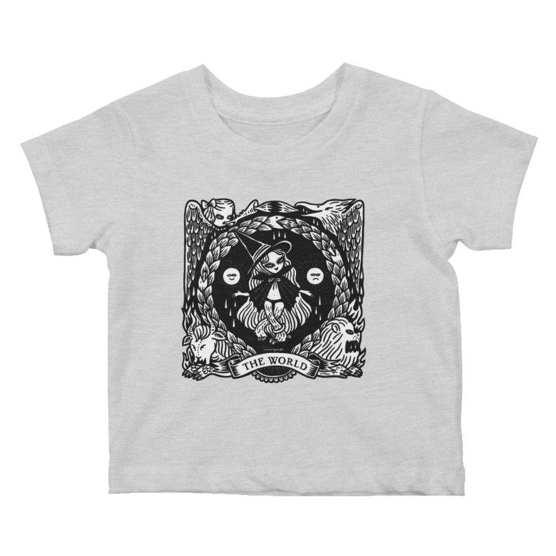 THE WORLD Kids Baby T-Shirt by Mizna Wada