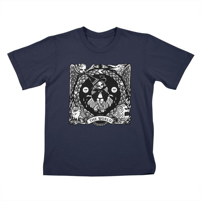 THE WORLD Kids T-Shirt by Mizna Wada