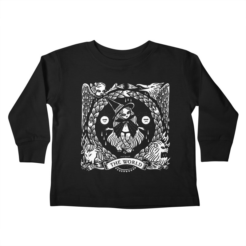 THE WORLD Kids Toddler Longsleeve T-Shirt by Mizna Wada