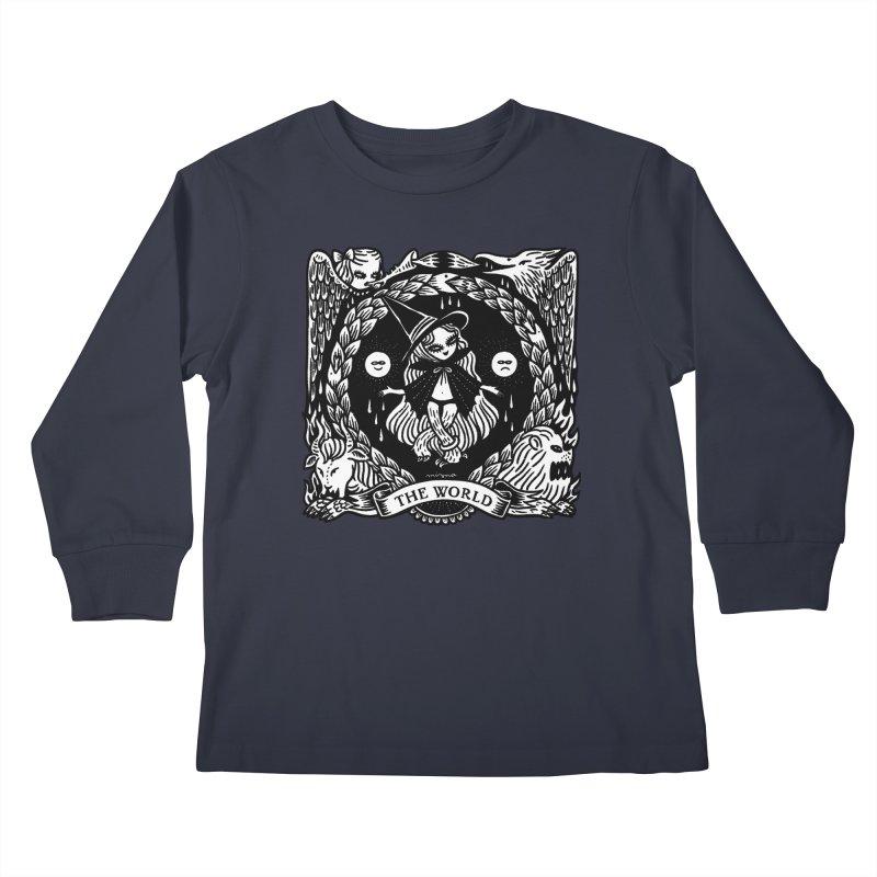 THE WORLD Kids Longsleeve T-Shirt by Mizna Wada