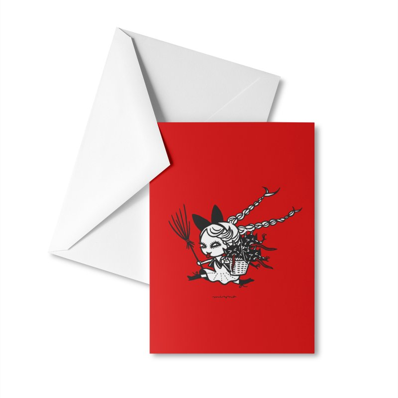 Krampus Girl Accessories Greeting Card by Mizna Wada
