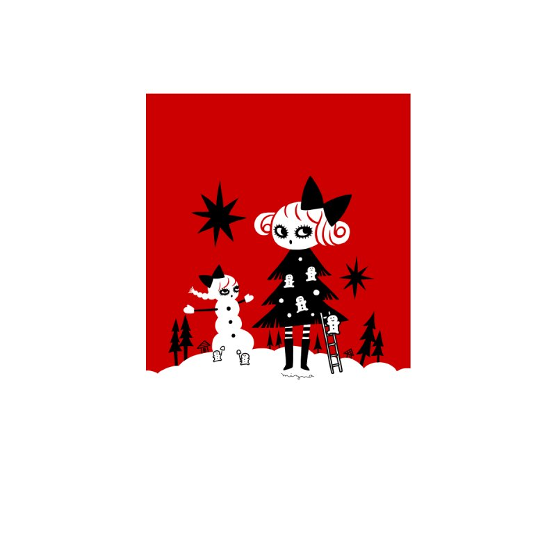 Snow Day Accessories Greeting Card by Mizna Wada