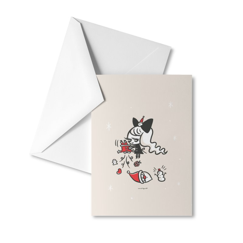 Give me a Christmas gift Accessories Greeting Card by Mizna Wada