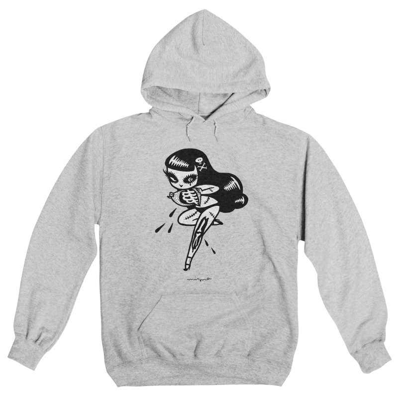 UNDEAD GIRL -  for lighter color Women's Pullover Hoody by Mizna Wada