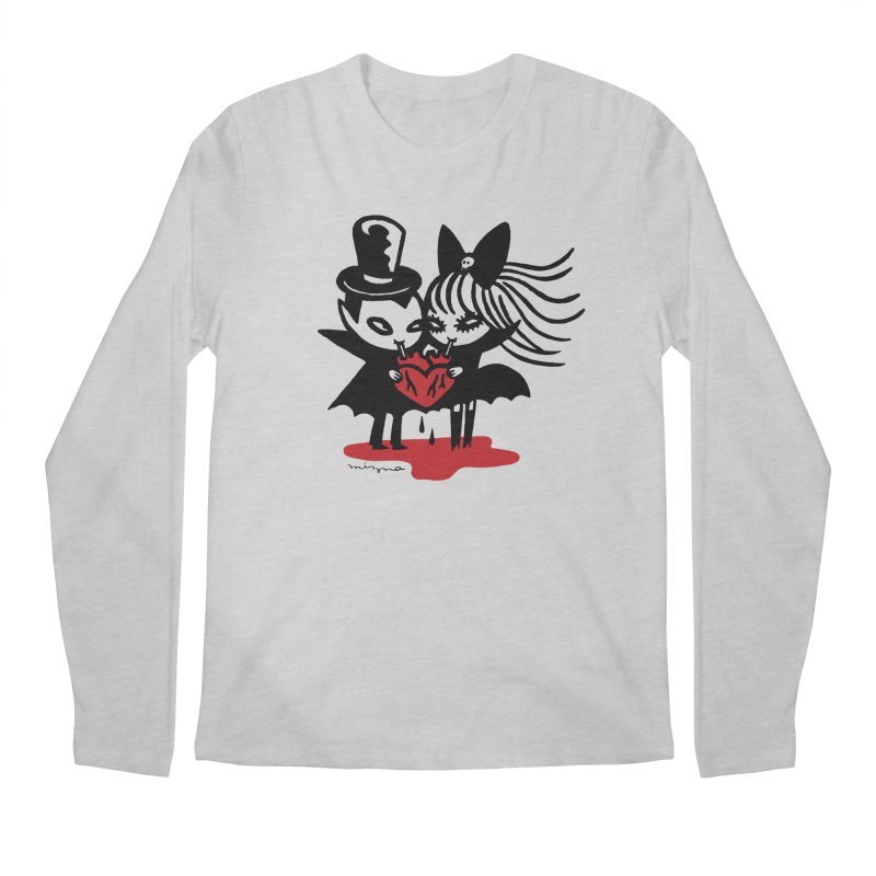 Vampire Love Men's Longsleeve T-Shirt by Mizna Wada