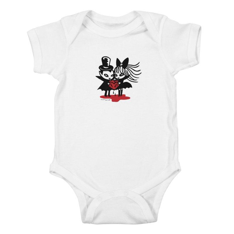 Vampire Love Kids Baby Bodysuit by Mizna Wada
