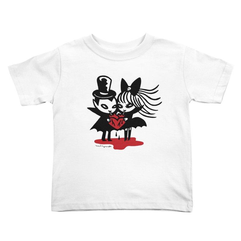 Vampire Love Kids Toddler T-Shirt by Mizna Wada