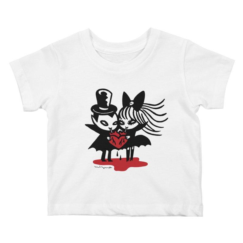 Vampire Love Kids Baby T-Shirt by Mizna Wada