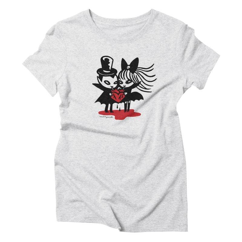 Vampire Love Women's T-Shirt by Mizna Wada