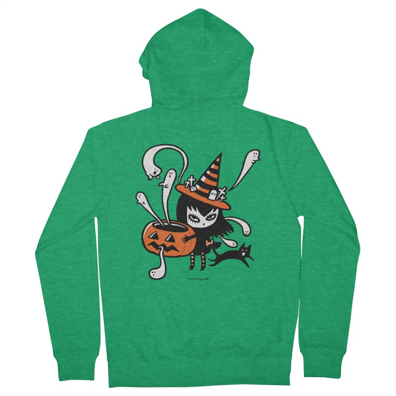 Halloween witch Men's Zip-Up Hoody by Mizna Wada
