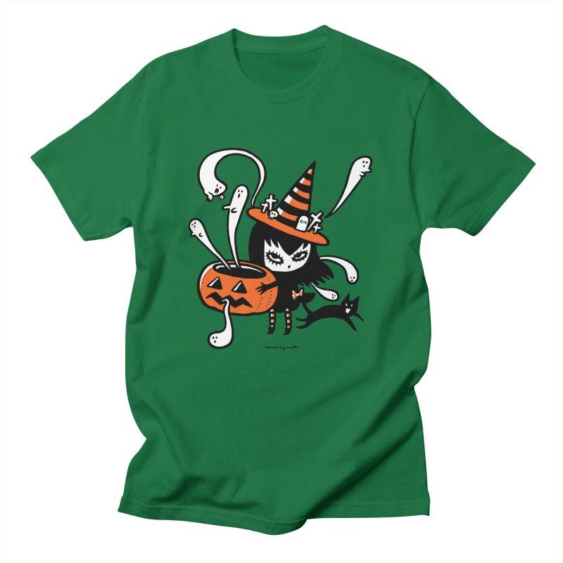 Halloween witch Men's T-Shirt by Mizna Wada
