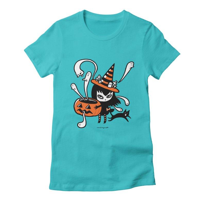 Halloween witch Women's T-Shirt by Mizna Wada