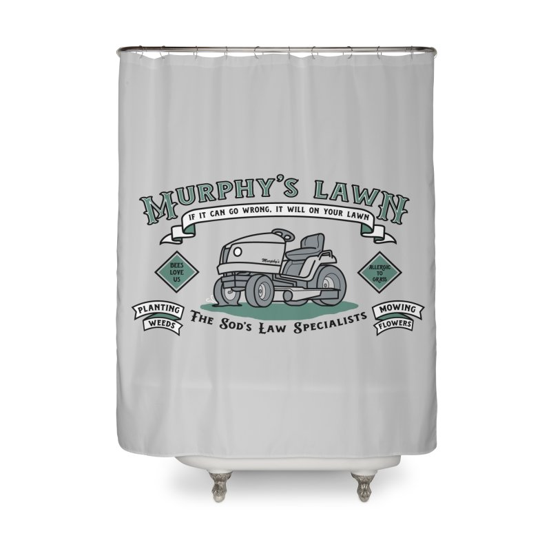 Murphy's Lawn Home Shower Curtain by mj's Artist Shop