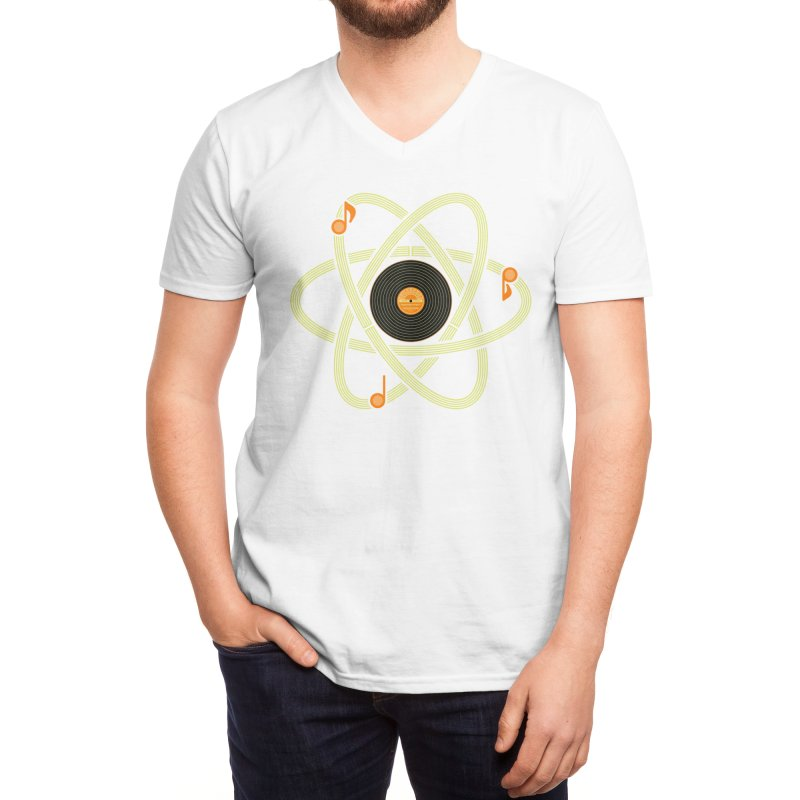 Molecular Music Men's V-Neck by mj's Artist Shop