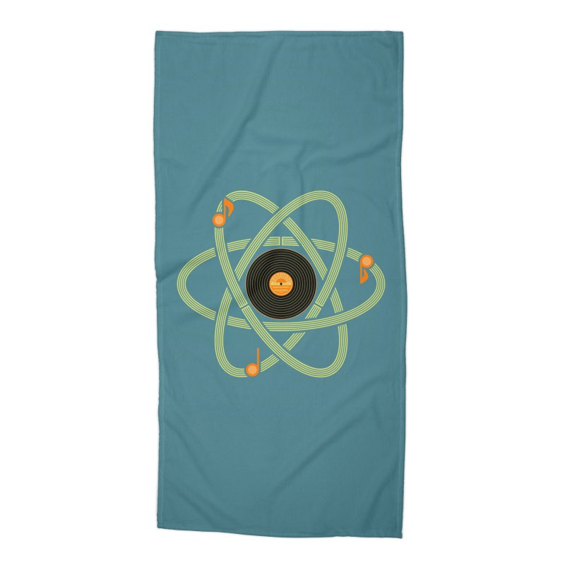 Molecular Music Accessories Beach Towel by mj's Artist Shop