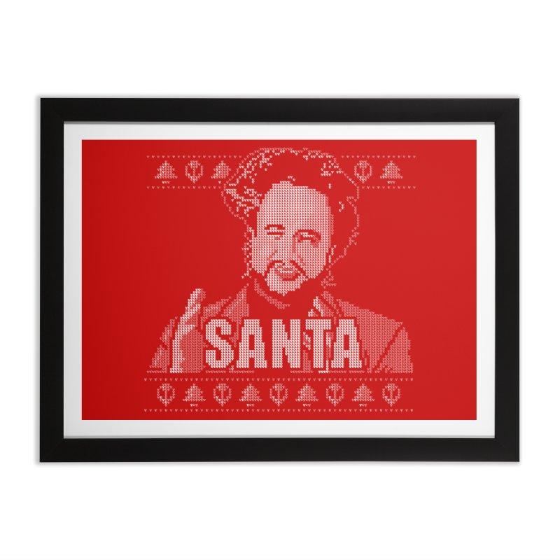 Aliens Meme Ugly Christmas Sweater Home Framed Fine Art Print by mj's Artist Shop
