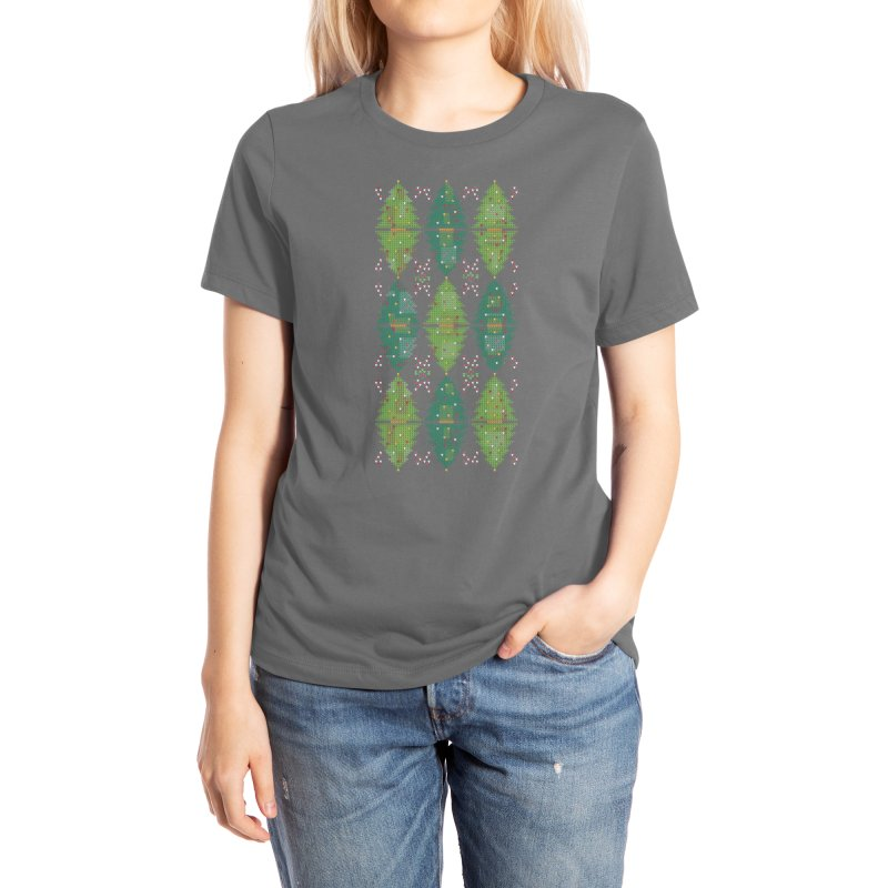 Christmas Argyle Women's T-Shirt by mj's Artist Shop
