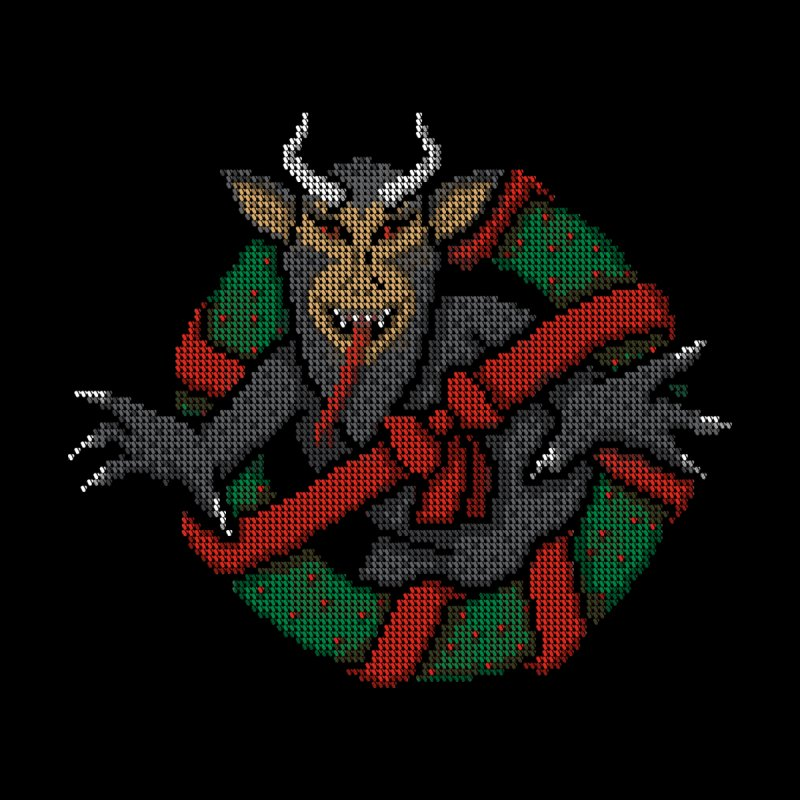 Krampus Busters Home Shower Curtain by mj's Artist Shop