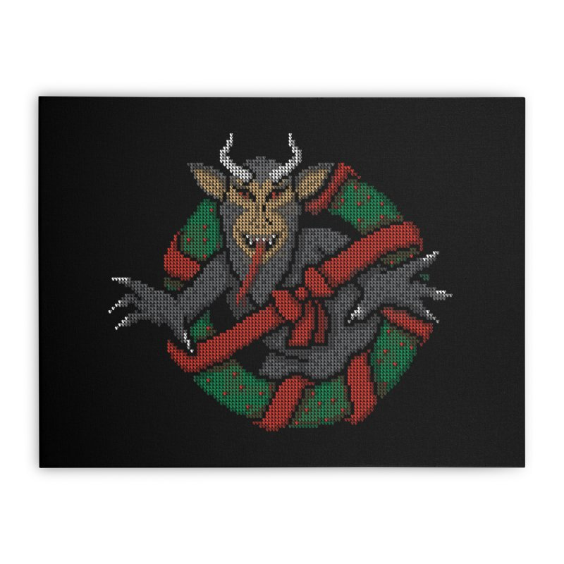 Krampus Busters Home Stretched Canvas by mj's Artist Shop