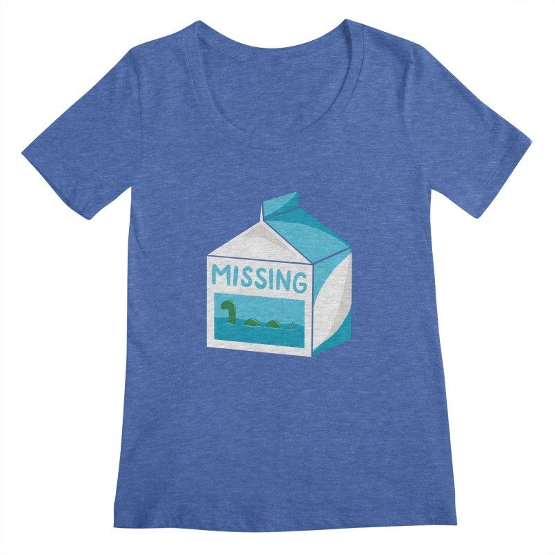 Missing Women's Scoopneck by mj's Artist Shop