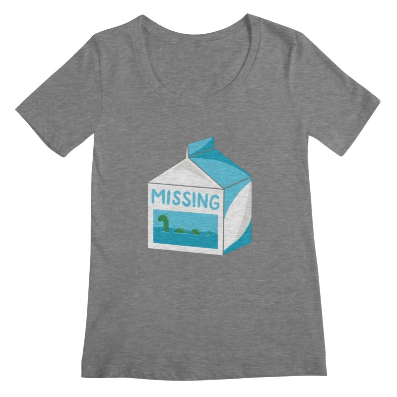 Missing Women's Scoopneck by mj's Artist Shop