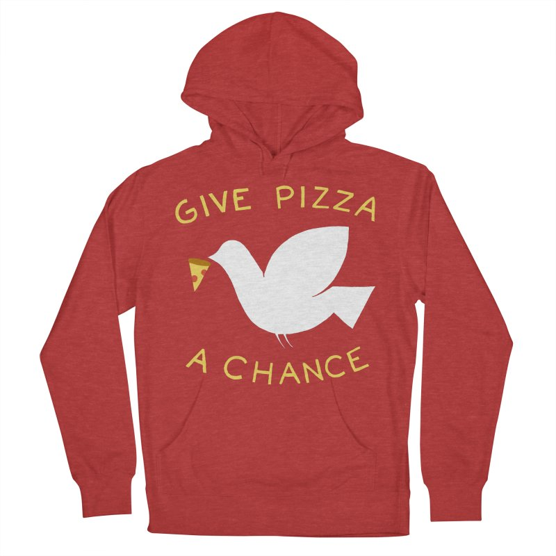 War and Pizza Women's French Terry Pullover Hoody by mj's Artist Shop