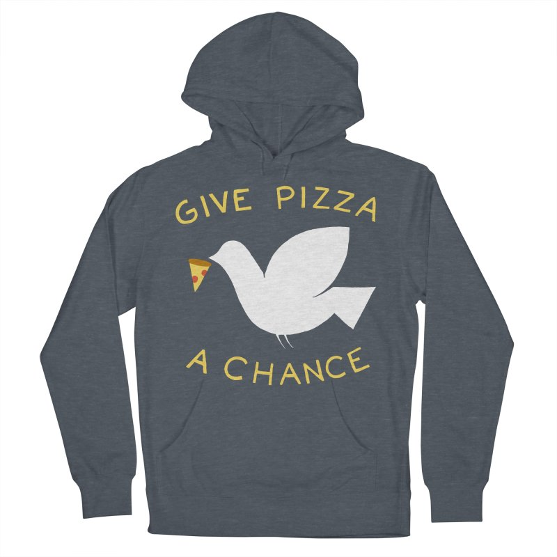 War and Pizza Men's French Terry Pullover Hoody by mj's Artist Shop