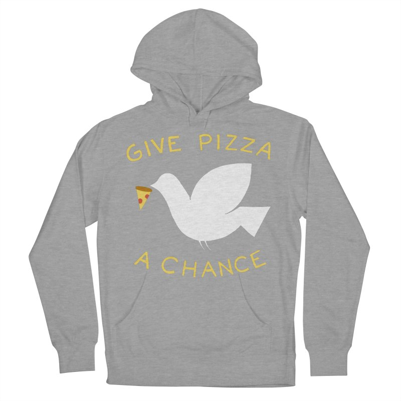 War and Pizza Men's Pullover Hoody by mj's Artist Shop