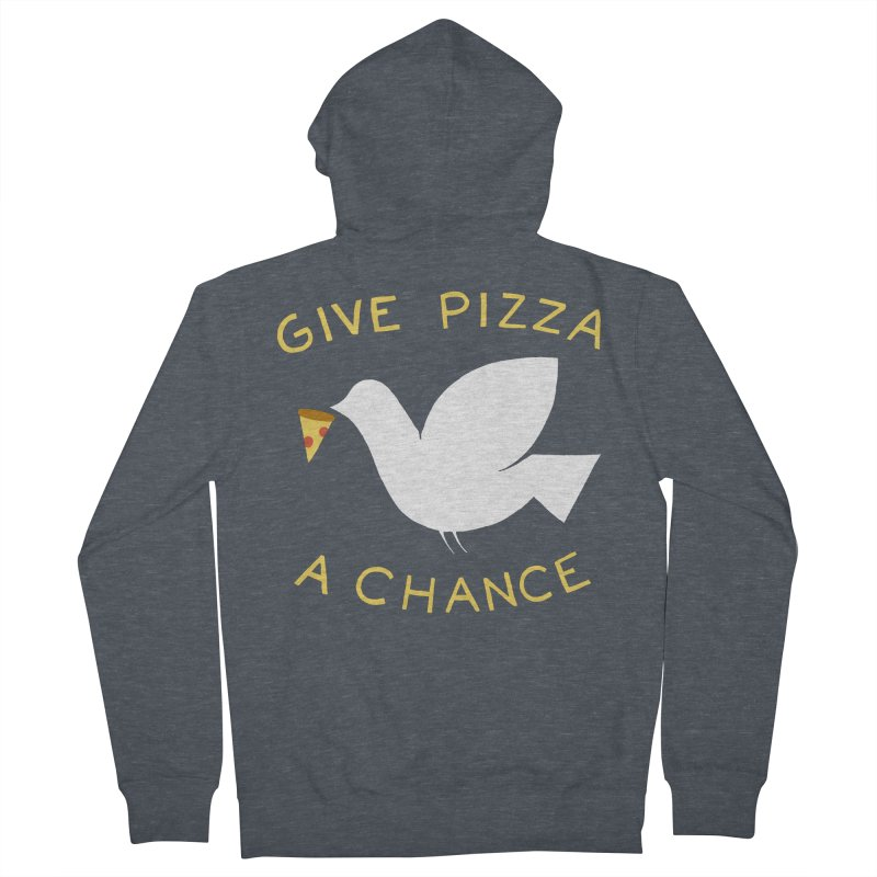 War and Pizza Women's Zip-Up Hoody by mj's Artist Shop