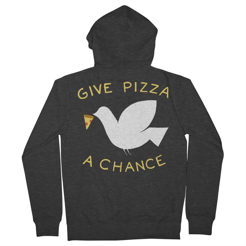 War and Pizza Men's French Terry Zip-Up Hoody by mj's Artist Shop