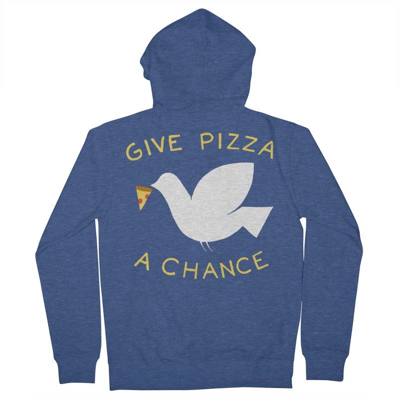 War and Pizza Men's Zip-Up Hoody by mj's Artist Shop