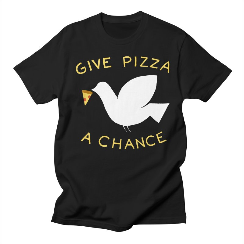 War and Pizza Men's Regular T-Shirt by mj's Artist Shop