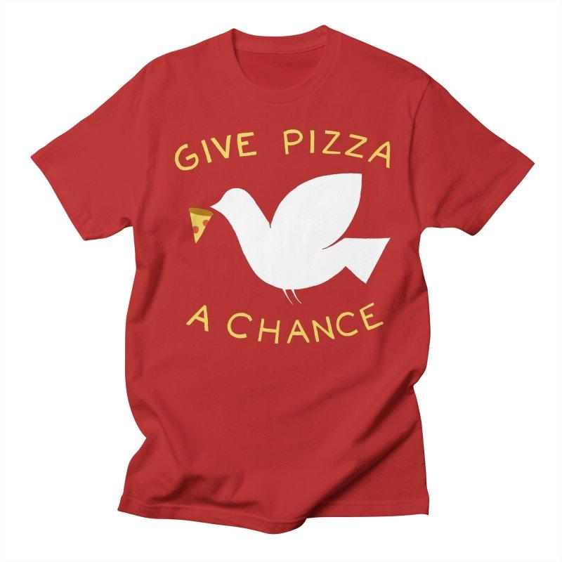 War and Pizza Men's T-shirt by mj's Artist Shop