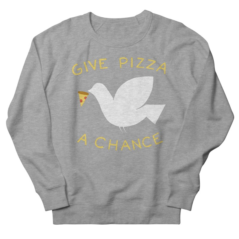 War and Pizza Women's Sweatshirt by mj's Artist Shop