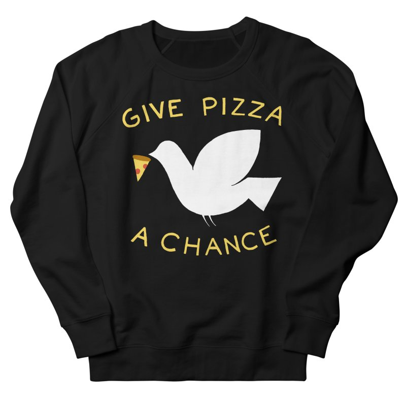 War and Pizza Women's French Terry Sweatshirt by mj's Artist Shop