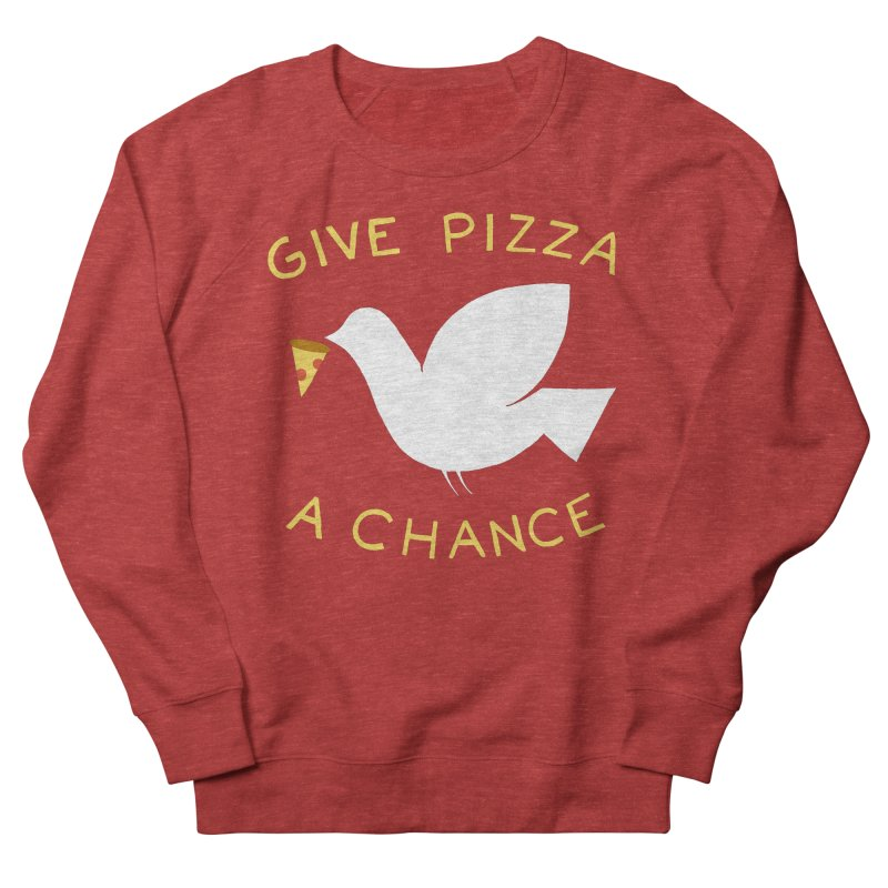 War and Pizza Men's Sweatshirt by mj's Artist Shop