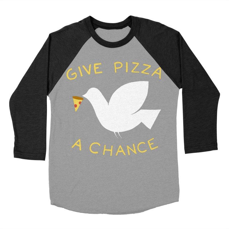 War and Pizza Men's Baseball Triblend T-Shirt by mj's Artist Shop